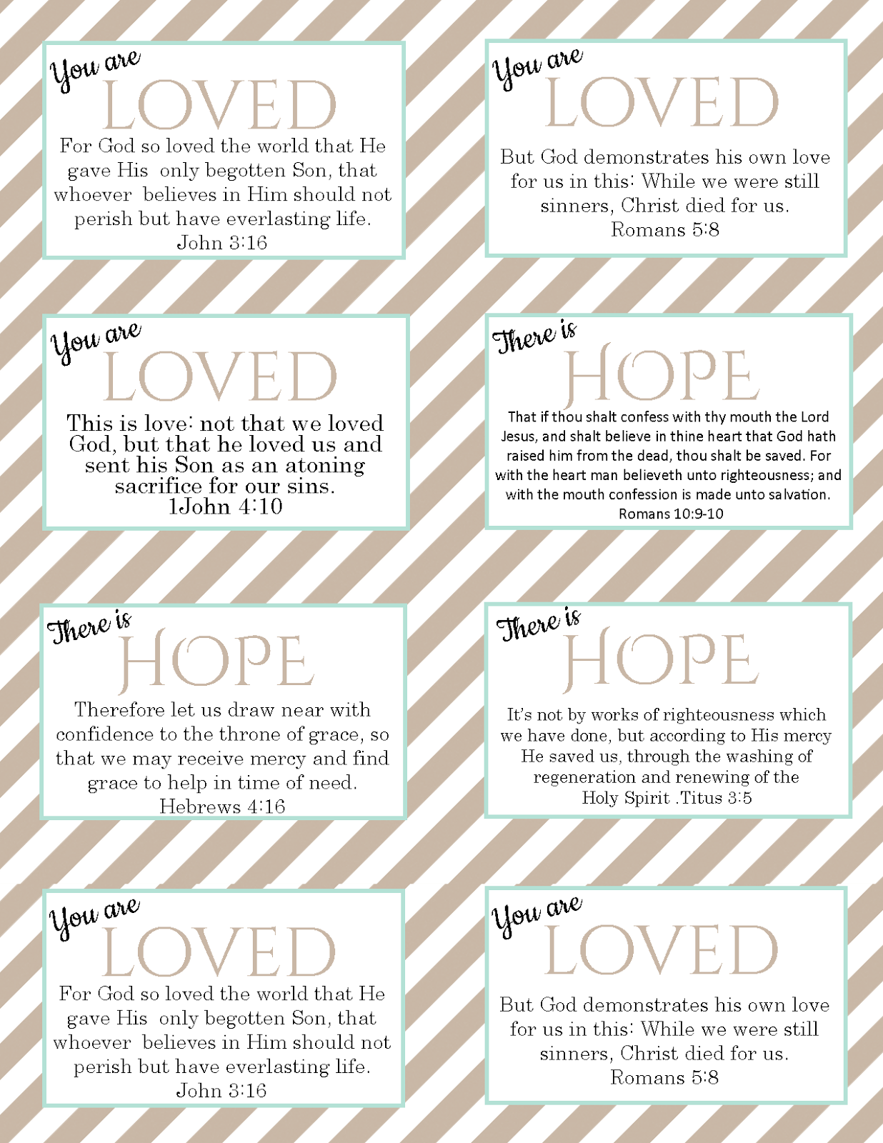 the blogging pastors wife printable verse cards on salvation and