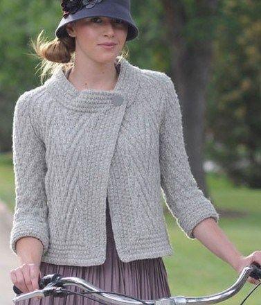 Pan Am Jacket Knitting Pattern Vce Vc K Inspiraci Odvy