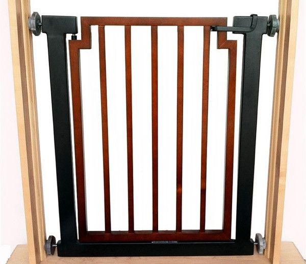 Walnut and Wrought Iron Indoor Pet Gate | Pet gate, Wrought iron and ...