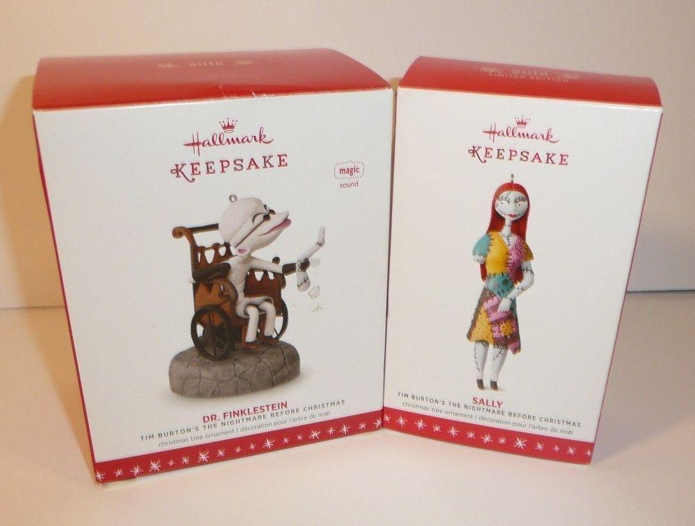 Hallmark Nightmare Before Christmas Ornaments.Dr Finklestein And Sally Set Of 2 Ornaments Hallmark