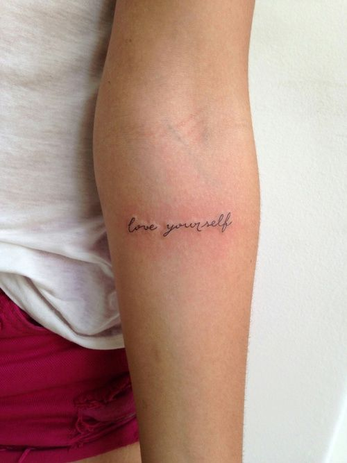 LOVE YOURSELF uploaded by Arya on We Heart It