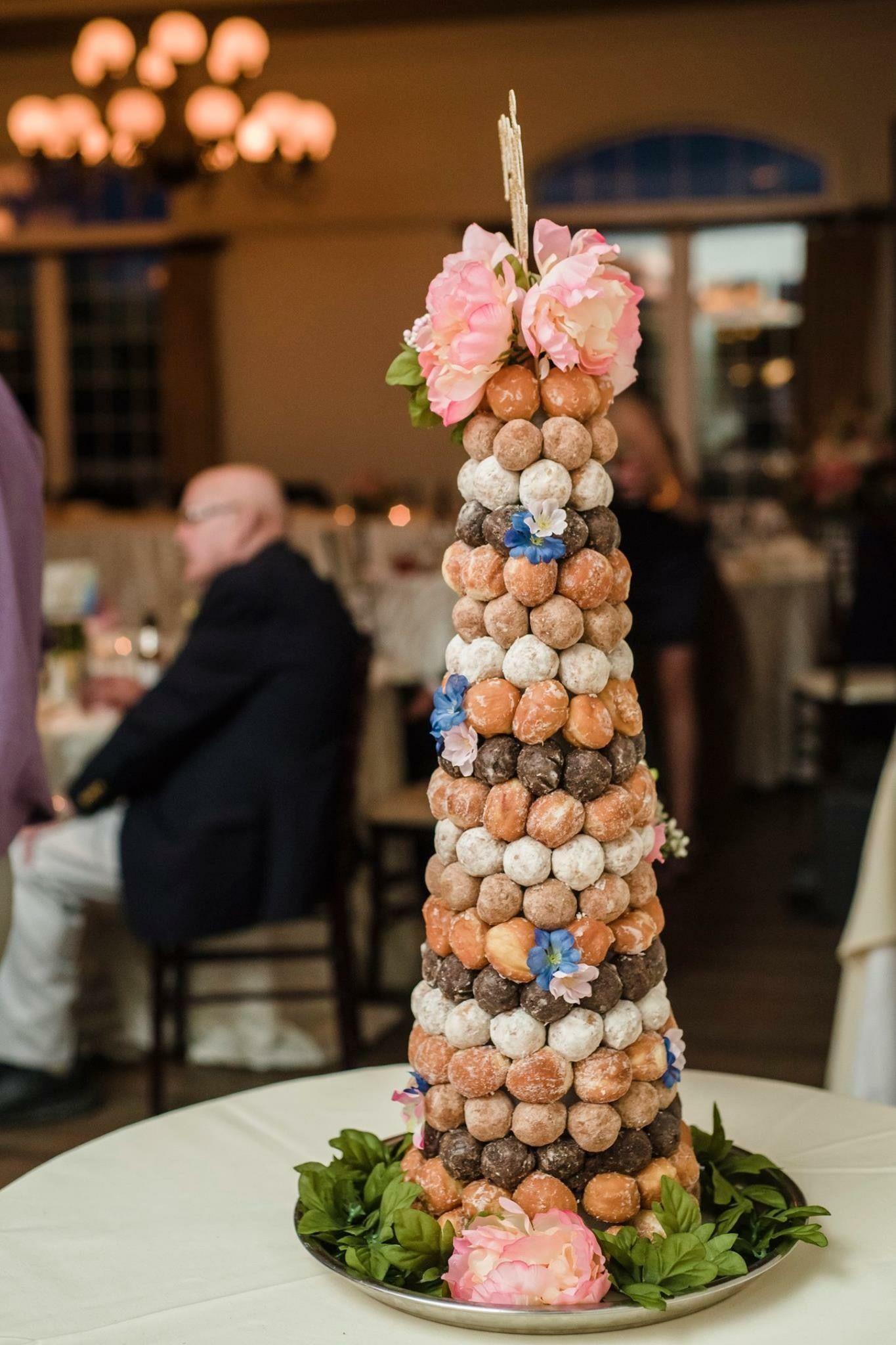 Donut hole tower great wedding cake alternative
