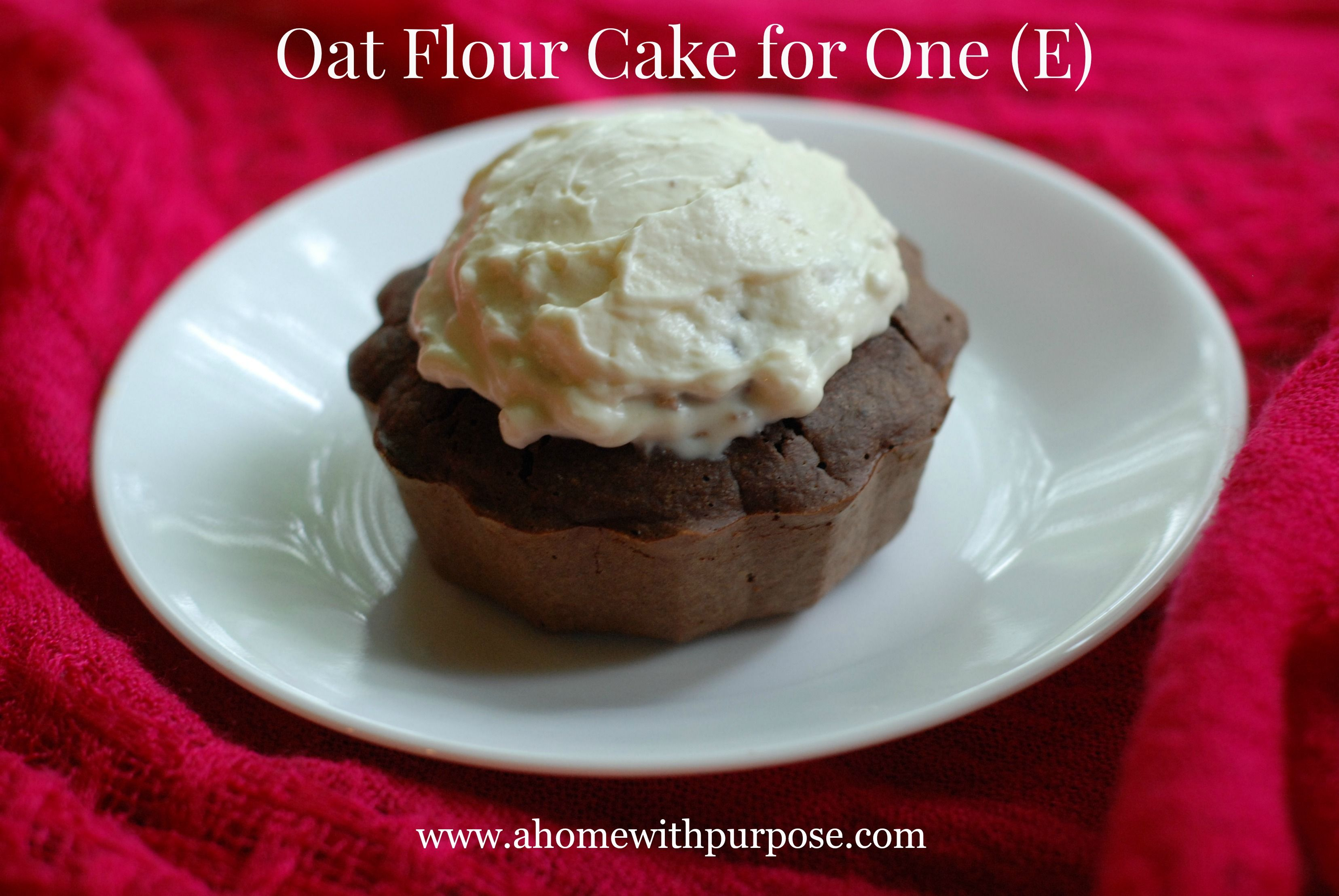 Oat Flour Cake for One~ THM E. Every day deserves cake ...