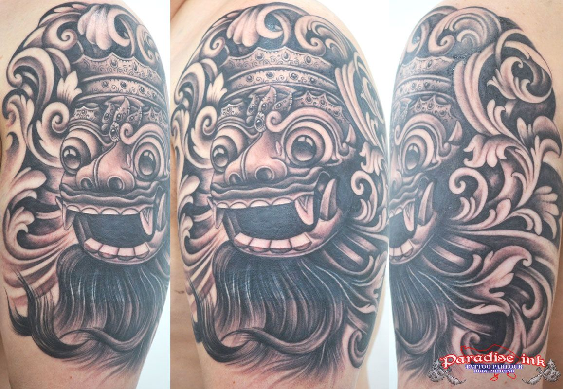 bali barong mask tattoo freehand tattoo paradise ink tattoo bali pinterest mask tattoo. Black Bedroom Furniture Sets. Home Design Ideas
