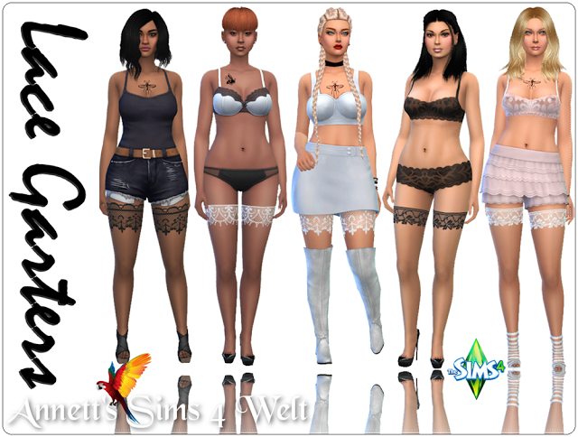 79ae4cab6cb Sims 4 CC's - The Best: Lace Garters by Annett85 | sims 4 | Sims 4 ...