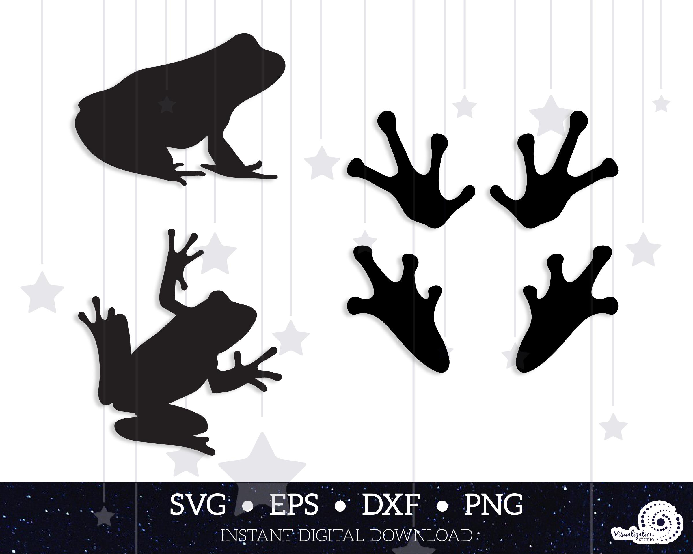 Frog Silhouettes Vector Set INSTANT DIGITAL DOWNLOAD svg