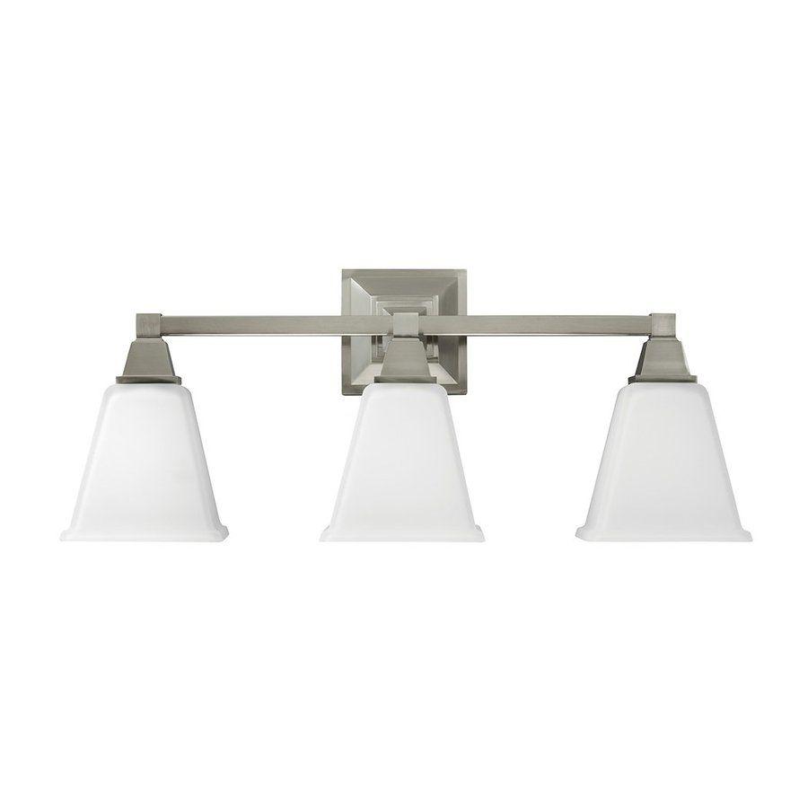 Shop Sea Gull Lighting 3-Light Denhelm Brushed Nickel Bathroom ...