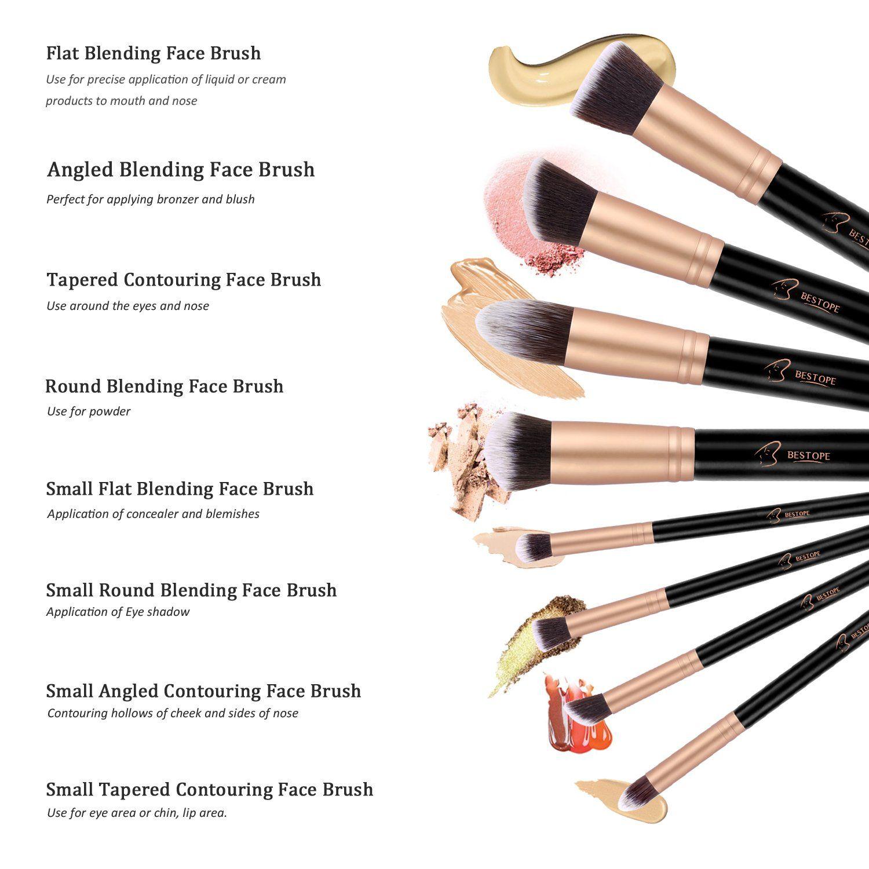 BESTOPE Makeup Brushes Premium Cosmetic Makeup Brush Set