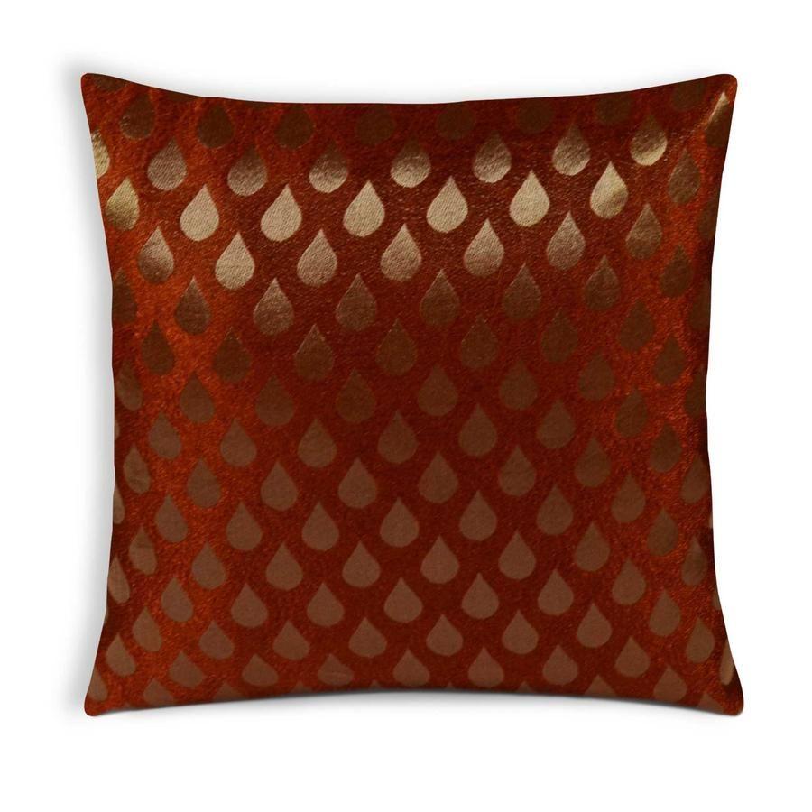 Tear Drop Rust Gold Brocade Silk Cushion Cover   Silk cushions, Silk  cushions covers, Gold brocade