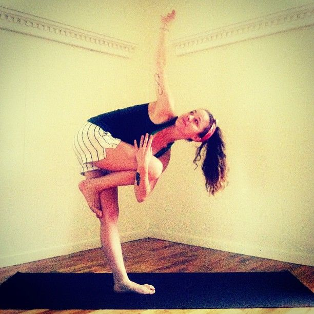 #BalanceTheMind is kind if like tree pose but a little different variation it's called Marichyasana.