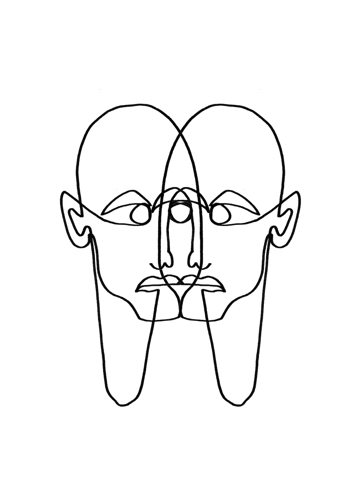 Face Two Face Linework By Julia Hariri Linework Artwork Arty Artsy Tattoo Abstract Painting Illustration Portrait Sket Eyes Artwork Artsy Tattoos Face Art