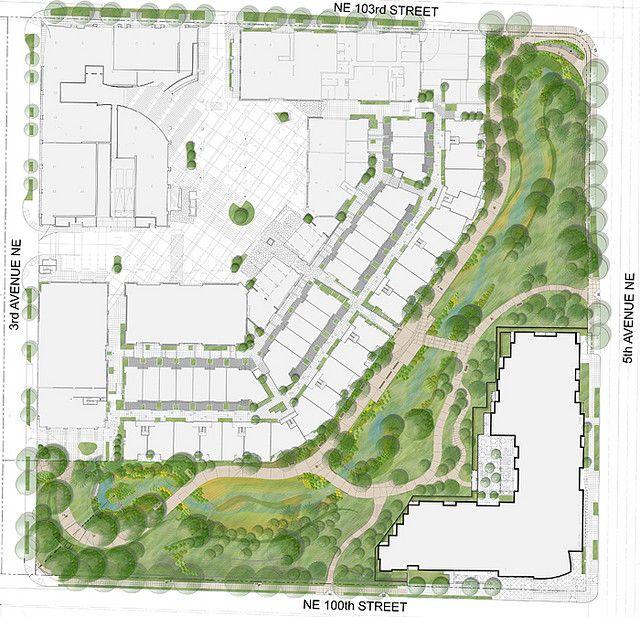 Landscape Plan Rendering For Thornton Creek Water Quality Channel Site Development Plan Architecture Site Development Plan Landscape Plan