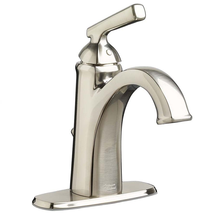 $100 American Standard Kirkdale Brushed Nickel 1Handle Single Cool Brushed Nickel Bathroom Faucets Decorating Design
