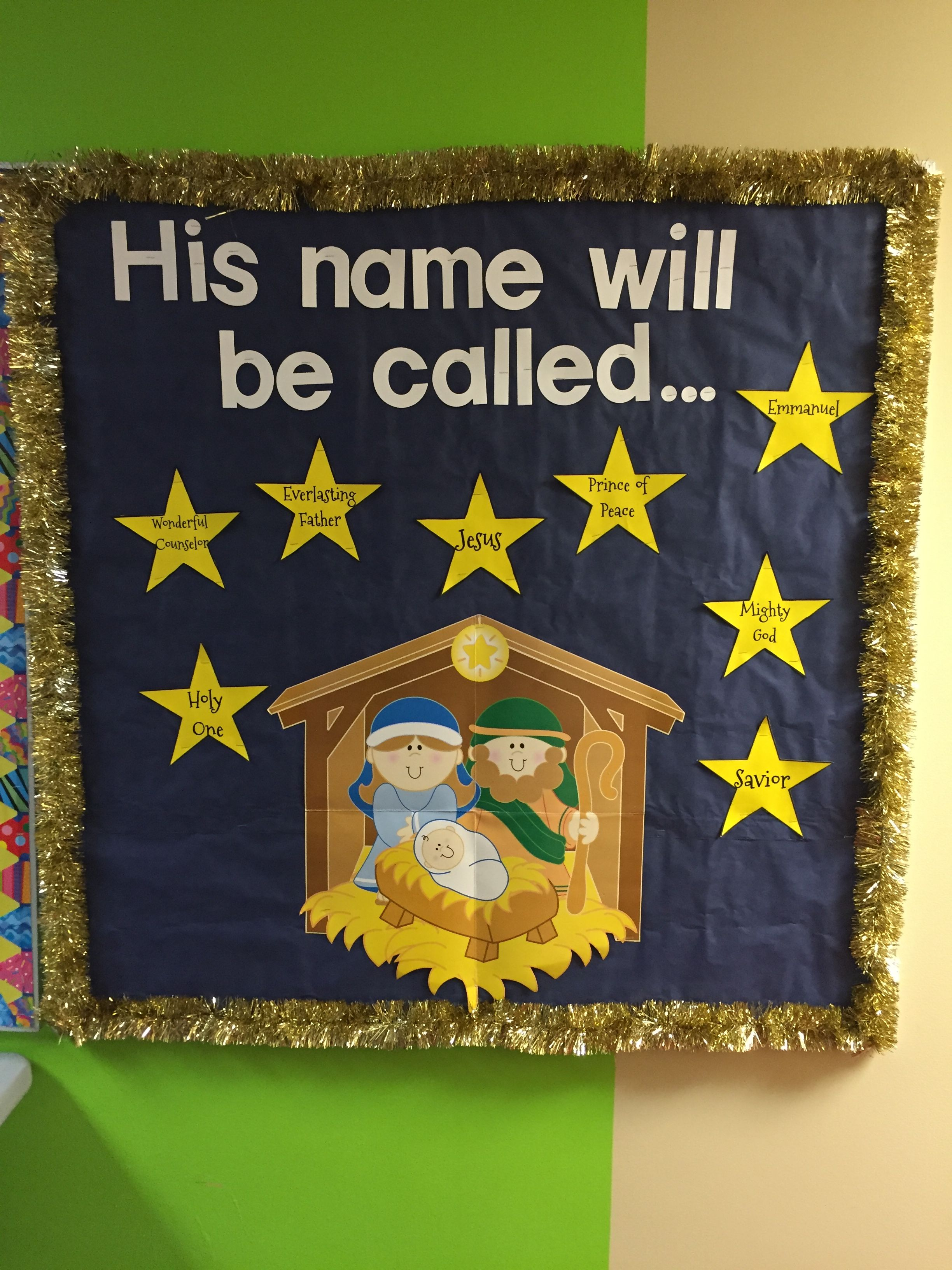 Christmas Bulletin Board Church. Faith