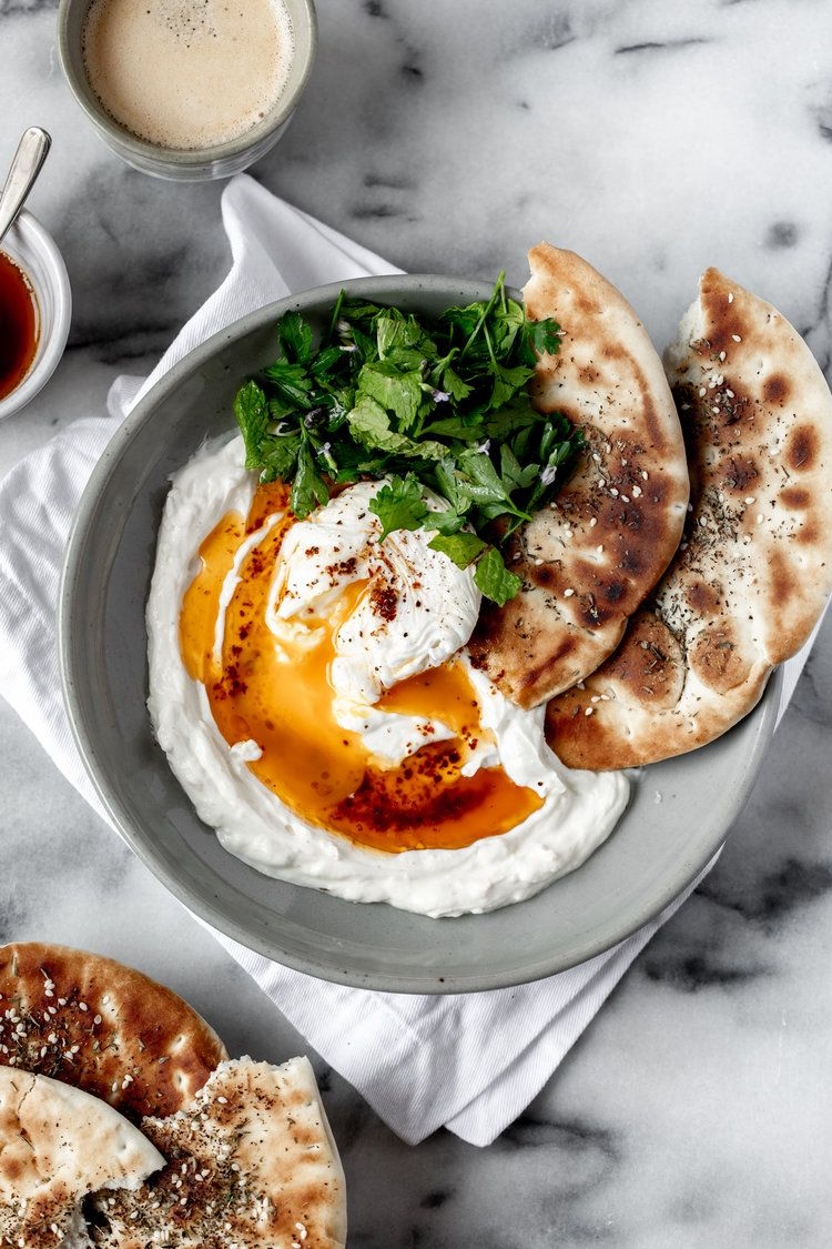 Turkish Savory Yogurt with Poached Eggs — Cooking with Cocktail Rings