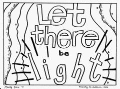 Let Their Be Light Coloring Page Creation Pages