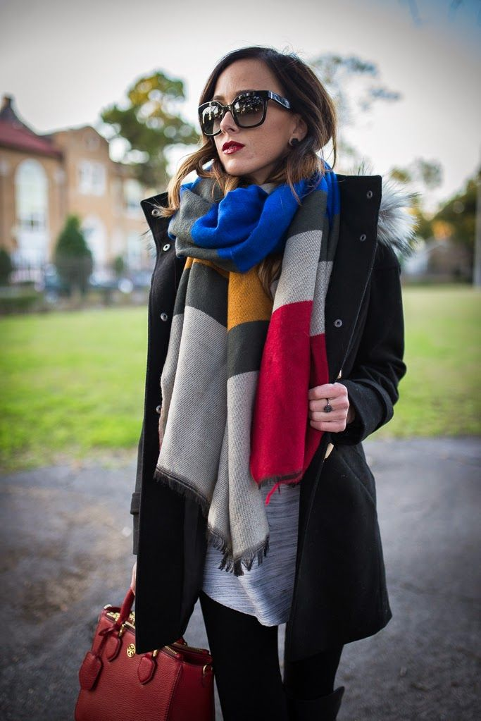 Fashion trend oversized scarf 40