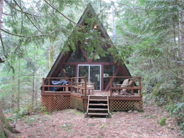 Tiny A Frame Cabin In Hoodsport Wa Avec Images Maison Images
