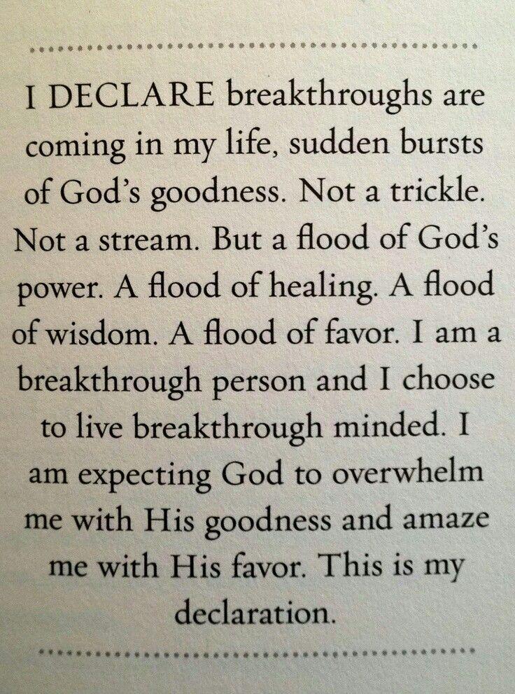 Prayer #DECLARE #breakthroughs #coming #life #sudden #bursts