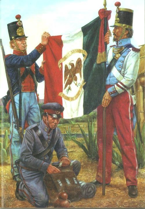 Mexican War Uniforms Mexican 11th Infantry Mexican American War Us Mexican War Mexican Army