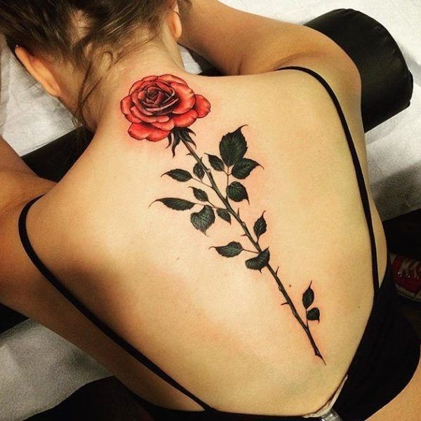 84634dc65 Floral, back tattoo on TattooChief.com | Back tattoos | Spine ...