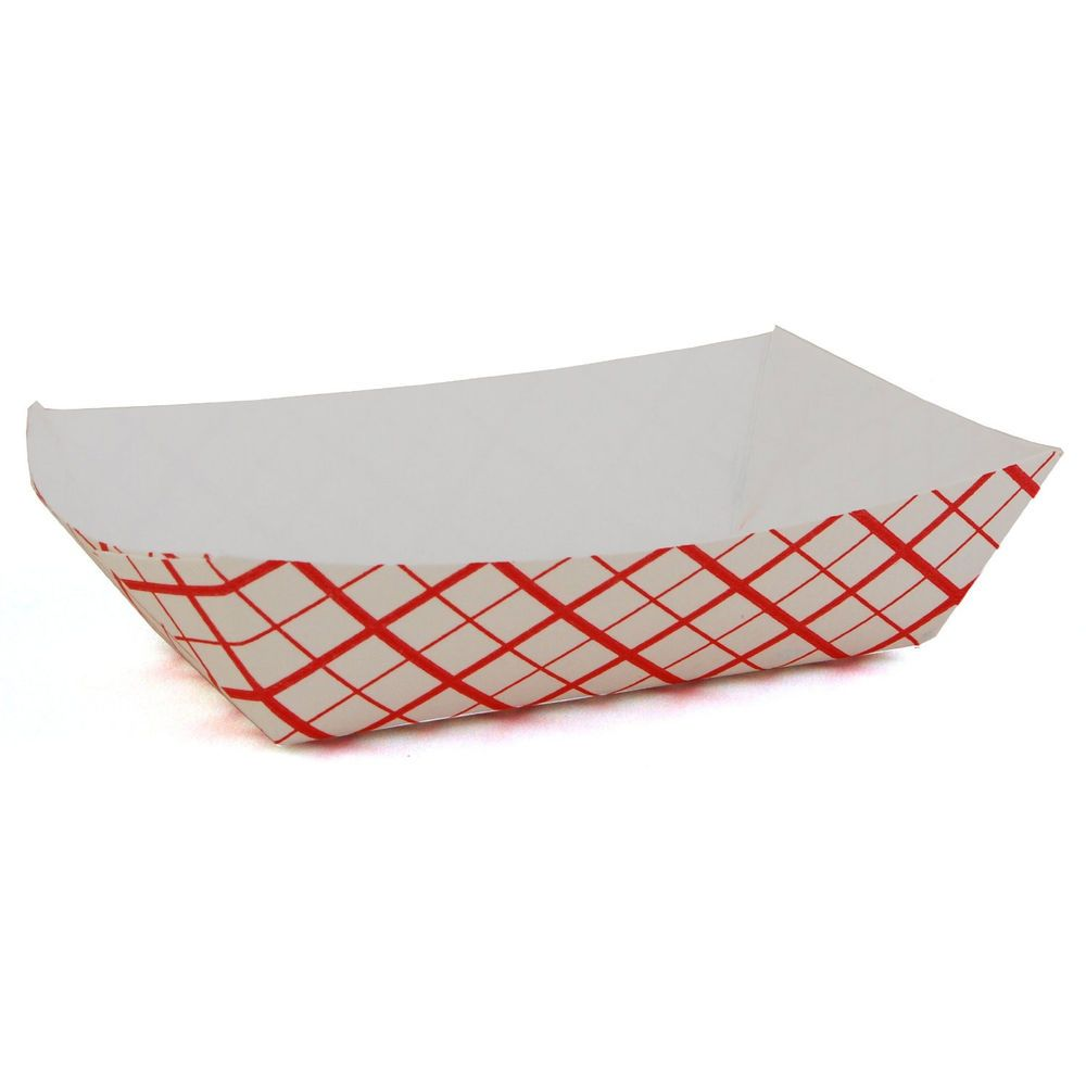 25 Food Trays Hot Dog Baskets Boat Holders Printed Paper Cardboard Parties