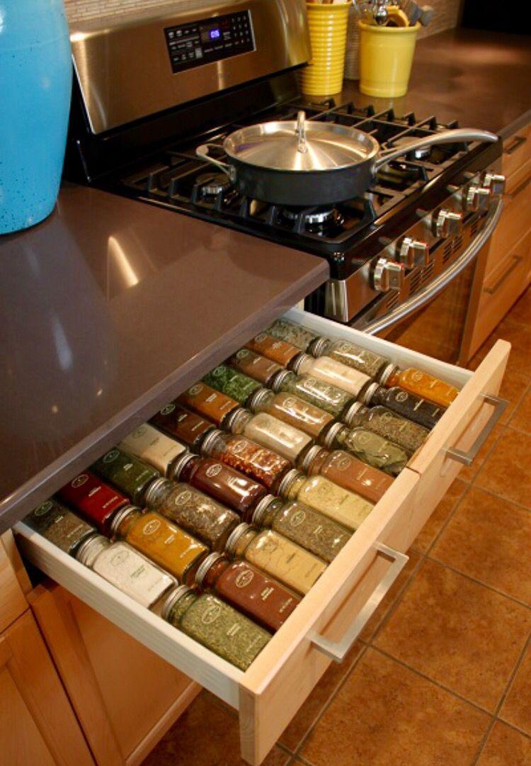 Custom Organized Spice Rack