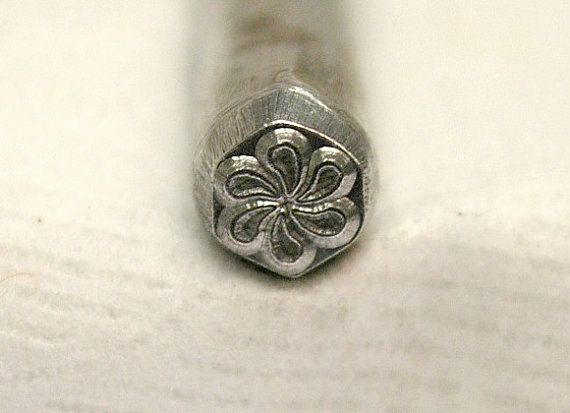 8mm American Flag Metal Punch Design Jewelry Stamp