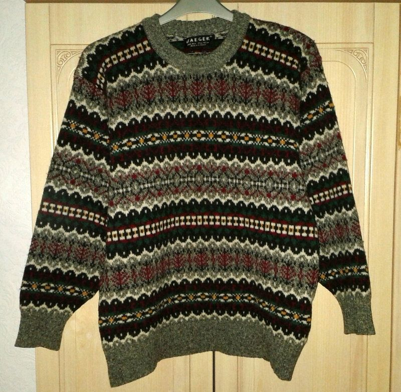 Vintage 80s Jaeger Brand Sweater Jumper Round Neck Etsy Sweaters Jumper Sweater Men Sweater