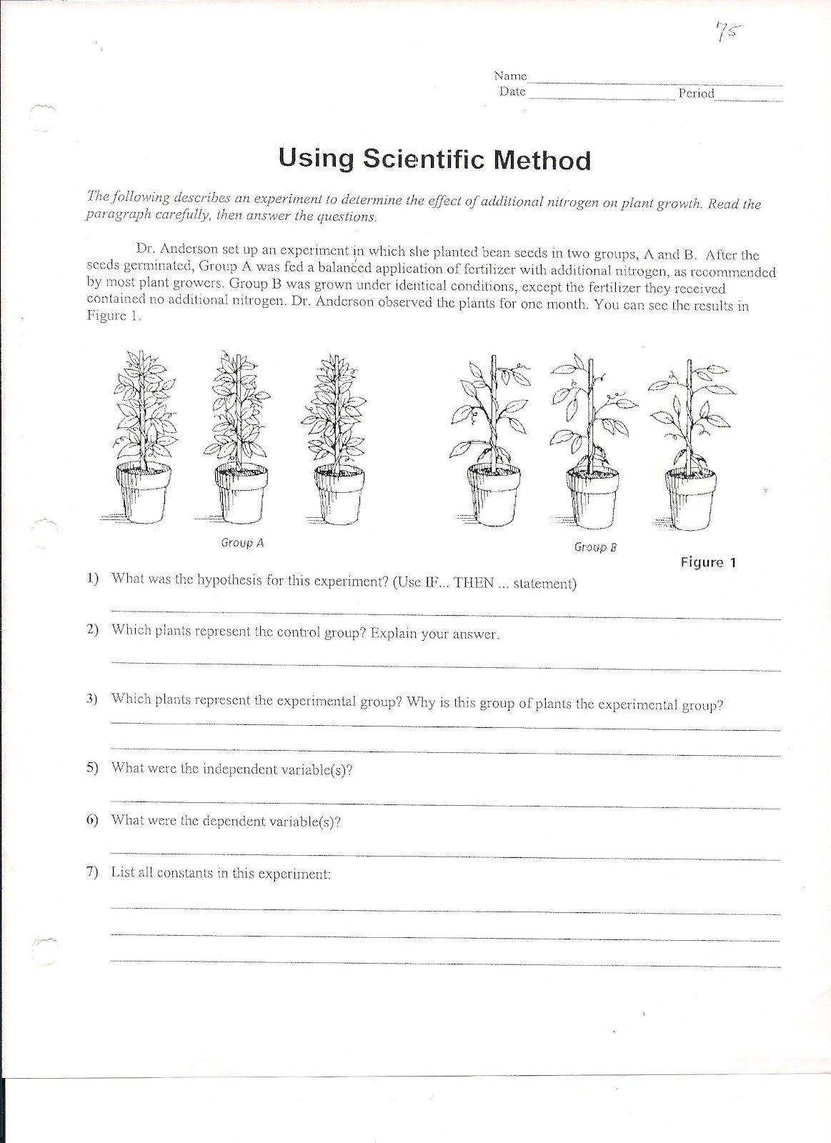 Worksheets Experimental Design Worksheet Scientific