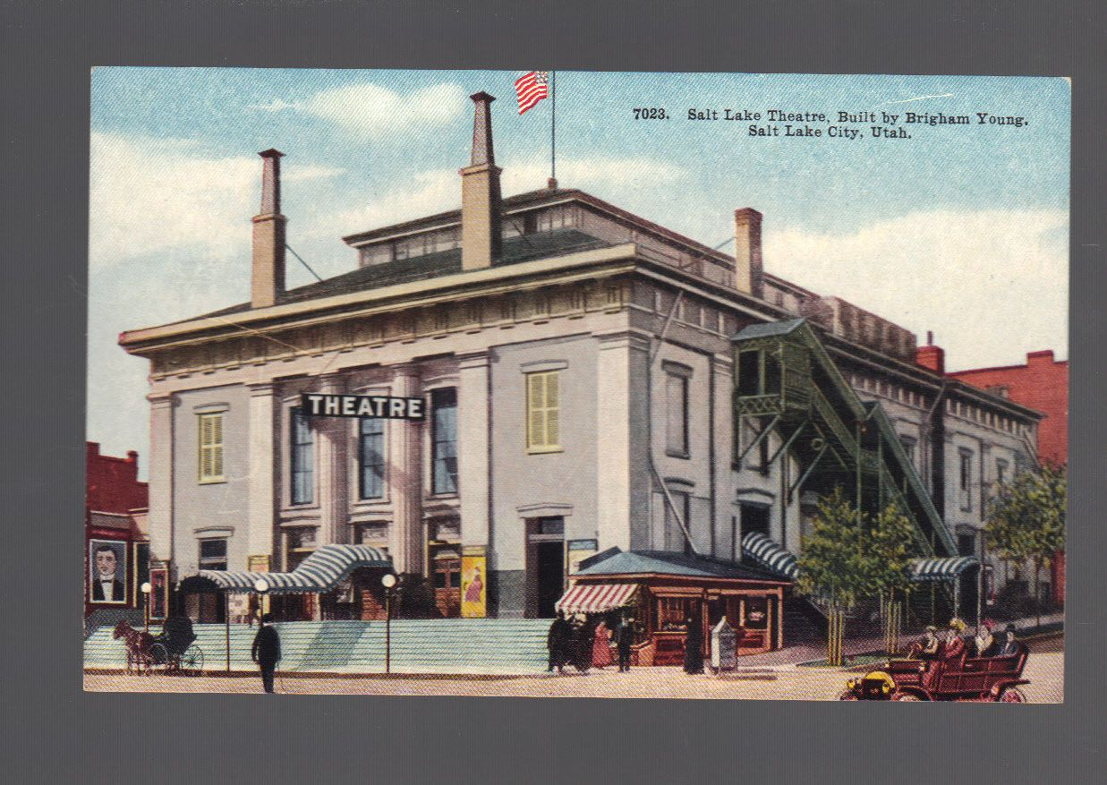 SLC Theatre, Theatre Built by Brigham Young Salt Lake City