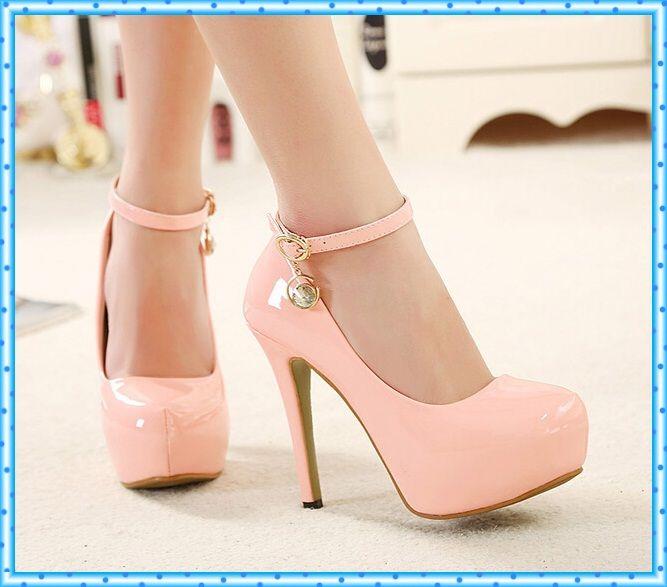 Rosa Para Bombea Altos Los Zapatos De Color Tacones Mujer qrYMqpT
