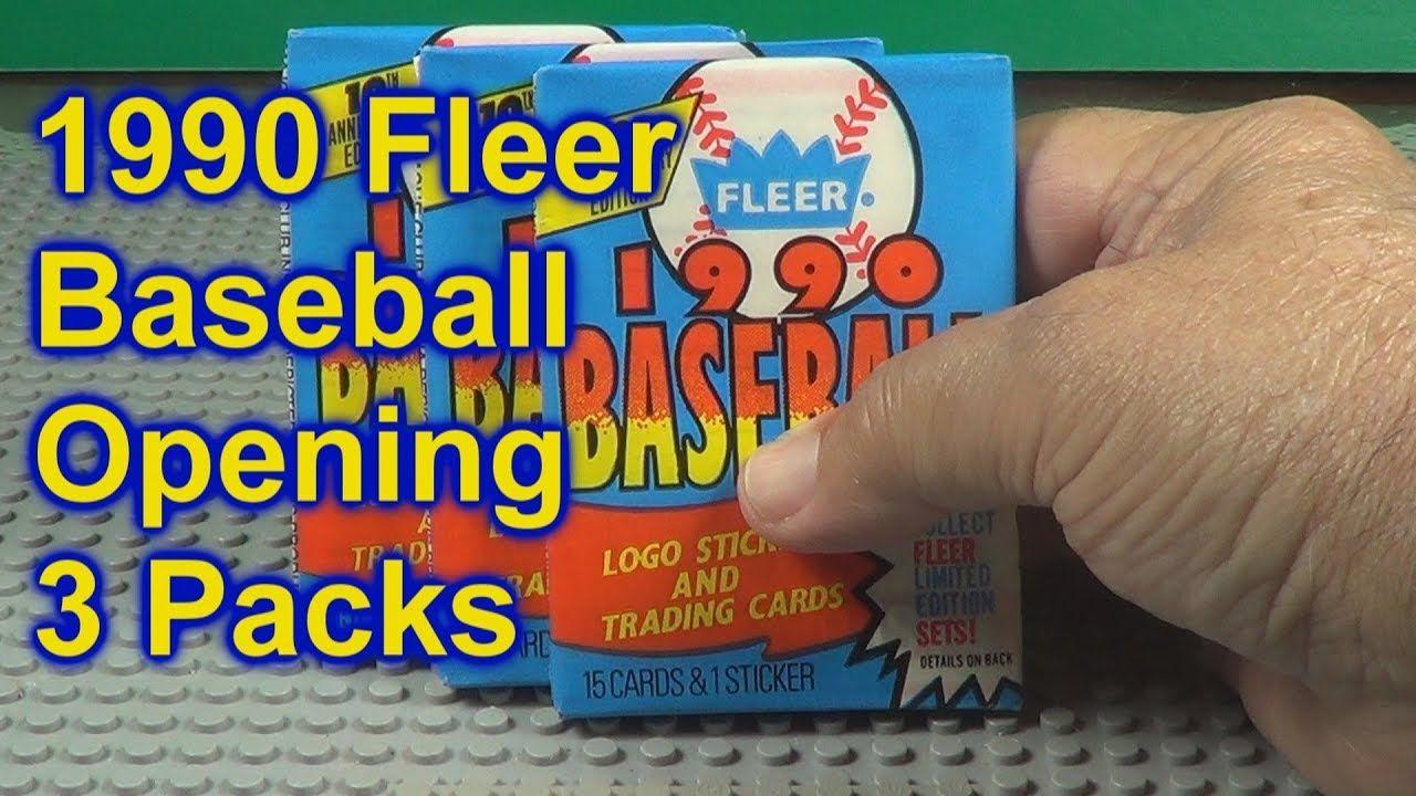 1990 fleer baseball cards opening 3 more packs baseball