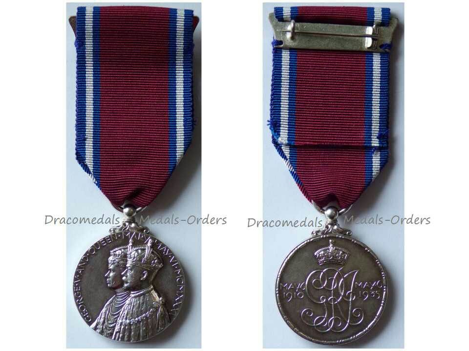 Britain Silver Jubilee Medal King V Queen Mary 1910