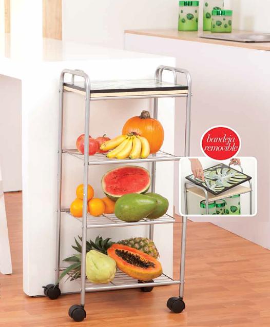 Carro Organizador Con Bandeja Removible Organiza Tus Frutas Verduras O Viveres En Tu Cocina Los Carritos O Camareras Como Cocinas Hogar Cocina Comedor