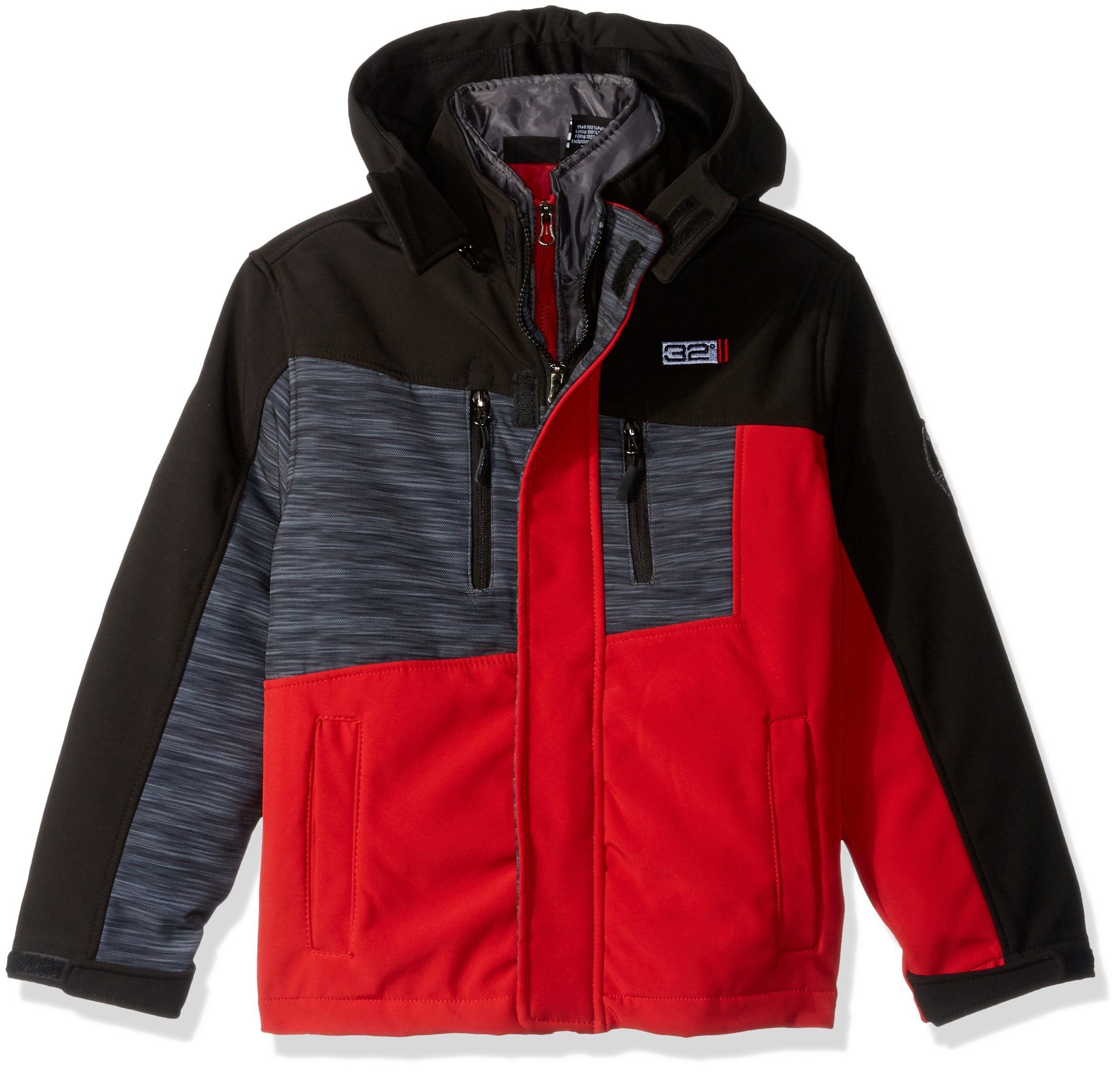 Weatherproof Little Boys 32 Degrees Outerwear Jacket More Styles Available Red Black Logo Print Black A 5 6 Wind And Outerwear Jackets Jackets Black Logo [ 2245 x 2347 Pixel ]