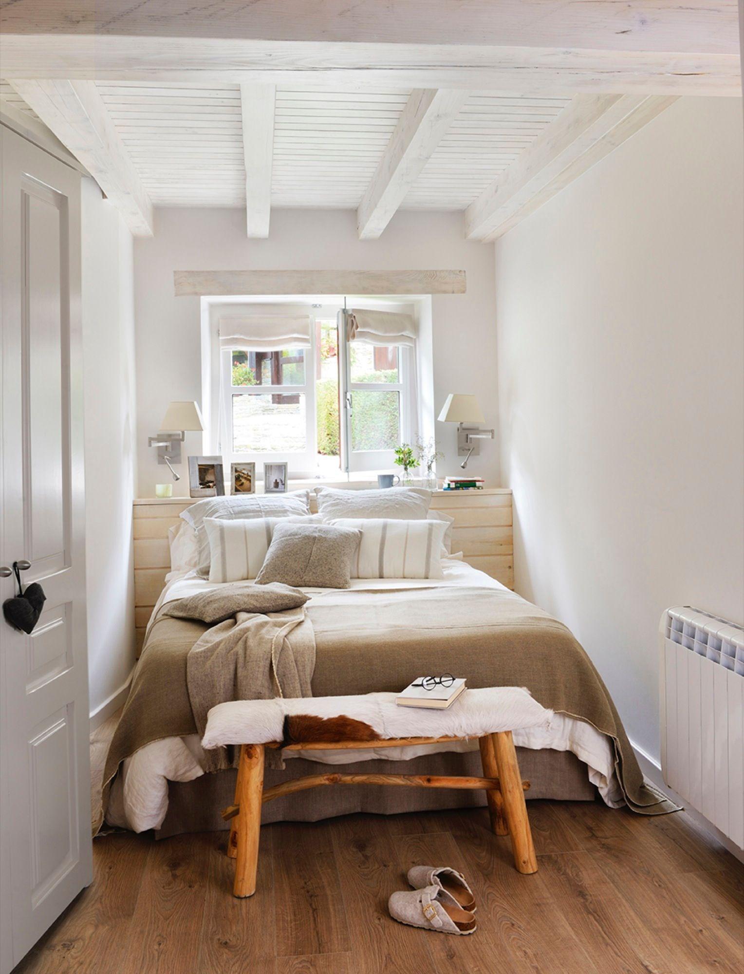 El dormitorio principal cool spaces dormitorios piso peque o y dormitorio deco - Bancos para dormitorio matrimonio ...