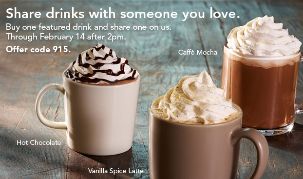 starbucks coupon BOGO FreeBeverages Starbucks Deal