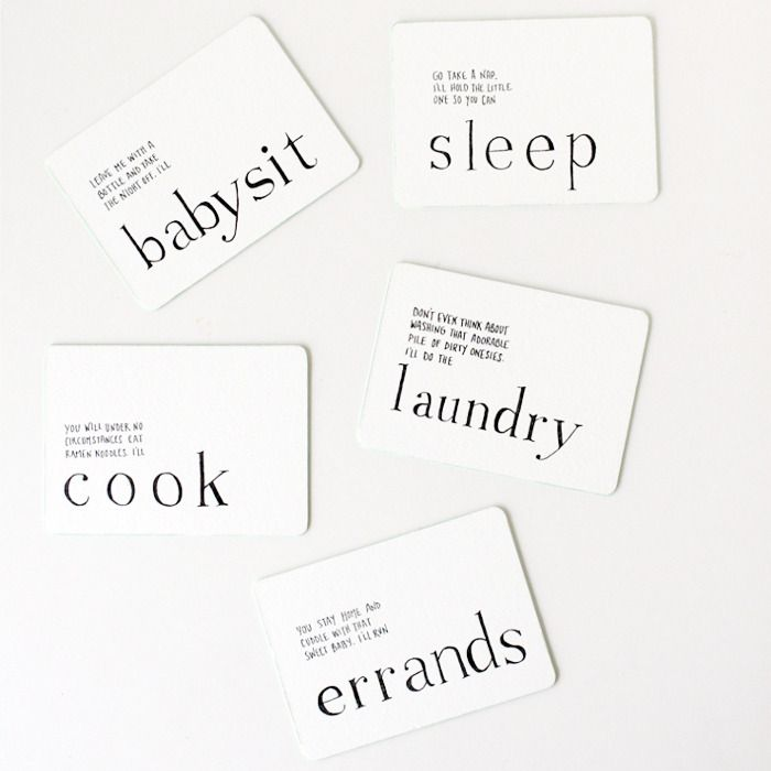 A Letterpress Set Of Iou Cards Guaranteed To Make Any New Mom