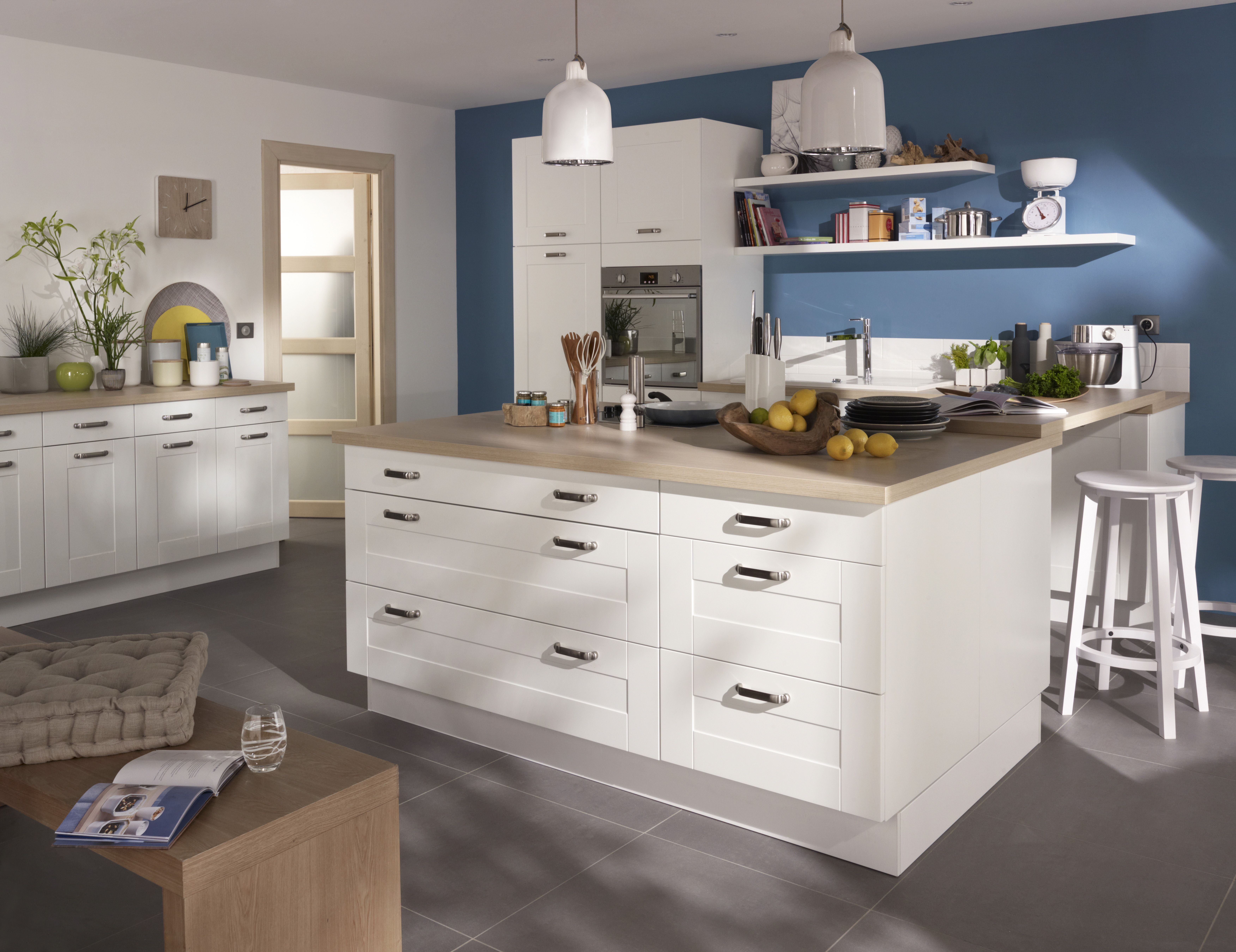 cuisine cooke lewis kadral blanc cuisines pinterest meuble de cuisine castorama et de cuisine. Black Bedroom Furniture Sets. Home Design Ideas
