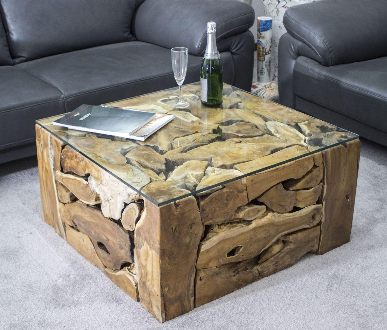 Couchtisch Madison 80 Cm Rund Metall Holz Korb Weiss Sofatisch