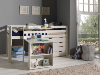 Vipack Furniture Spielbett Pino 2, weiß Jetzt bestellen unter: https://moebel.ladendirekt.de/kinderzimmer/betten/hochbetten/?uid=5d6ad379-16bf-5a7a-8f20-a15adfaecf21&utm_source=pinterest&utm_medium=pin&utm_campaign=boards #kinderzimmer #kleinkindmöbel #hochbetten #betten