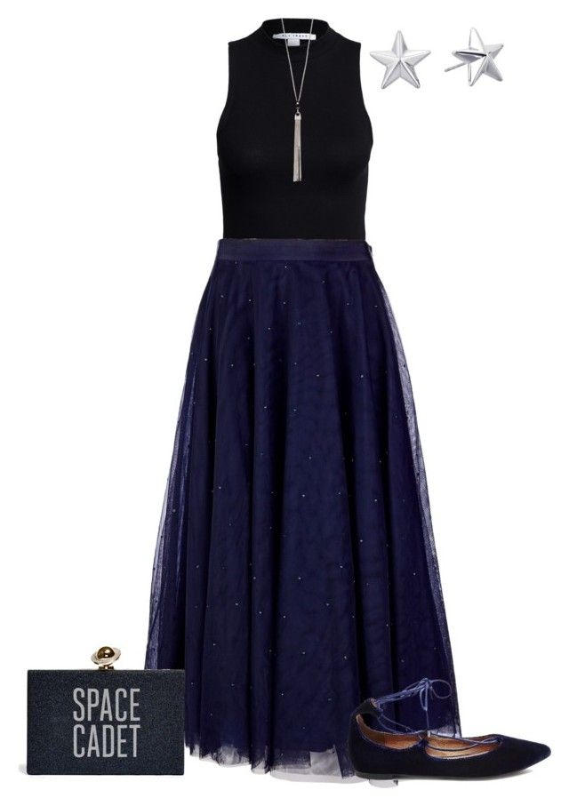 """""""Space Cadet's Night Out"""" by csdesbiens on Polyvore featuring NLY Trend, Ted Baker, Steve Madden, The Limited and Rebecca Minkoff"""