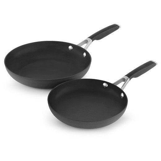 Calphalon 8 And 10 Hard Anodized Non Stick Frying Pan Set Fry Pan Set Calphalon Pans Calphalon