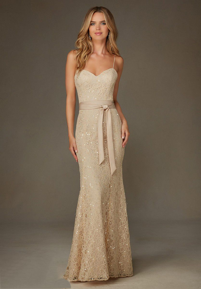 Mori Lee 127 Bridesmaid Dress #lacebridesmaids
