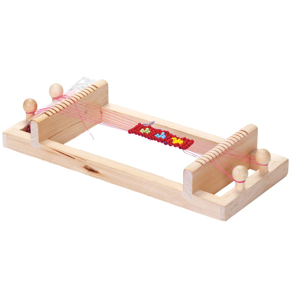 Wooden Bead Loom Kit Make Bead Jewelley And Trinkets Weaving