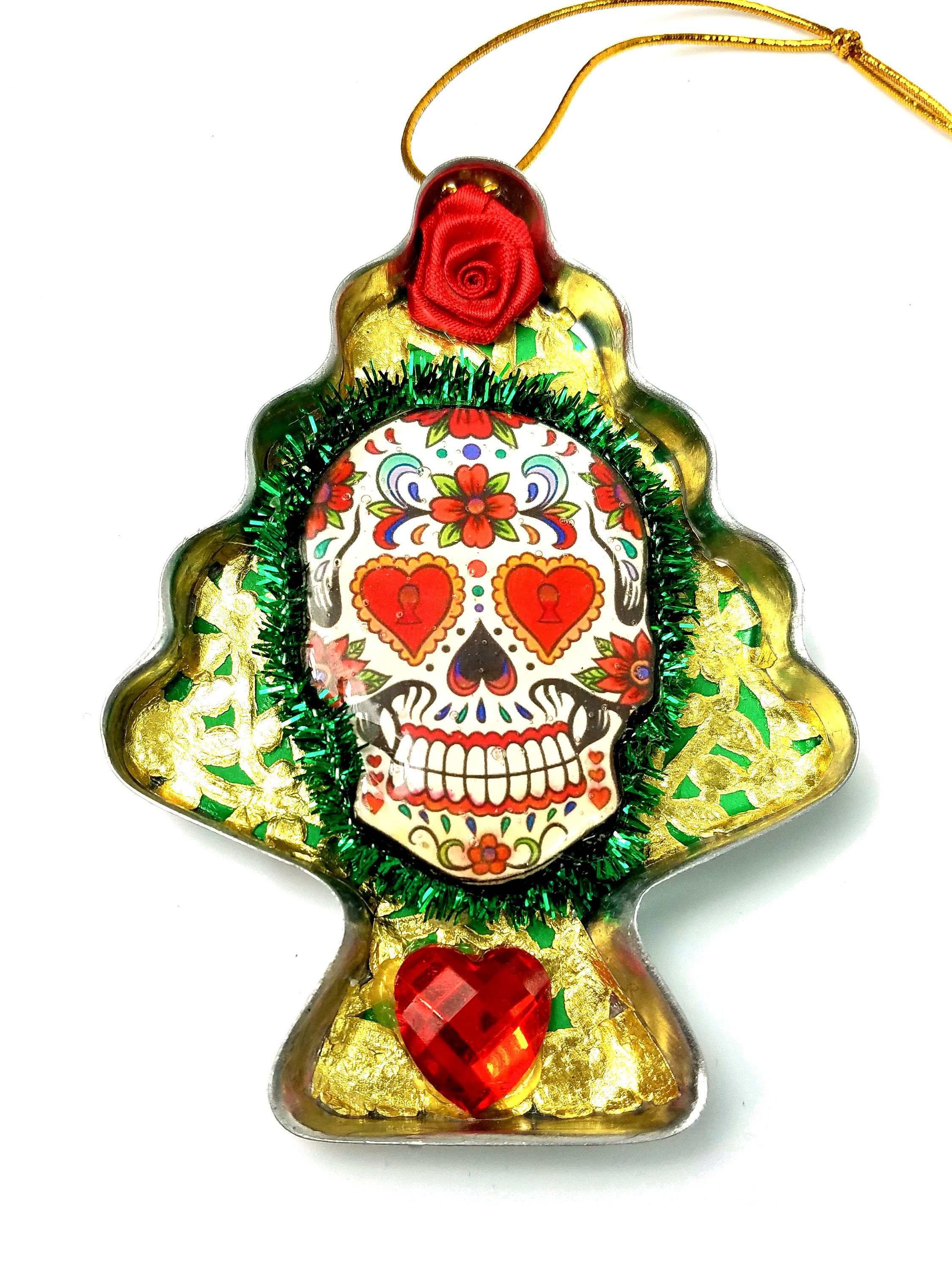 Sugar Skull Ornament, Day Of The Dead Christmas Tree ...