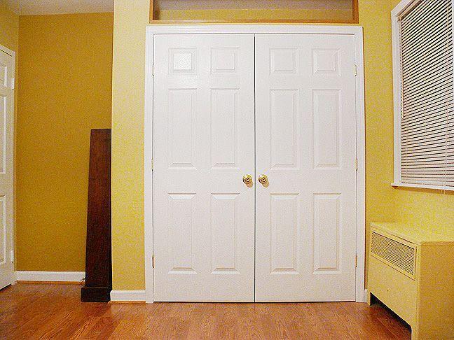 Replace Old Hollow Core Sliding Closet Doors With Nicer Double Doors
