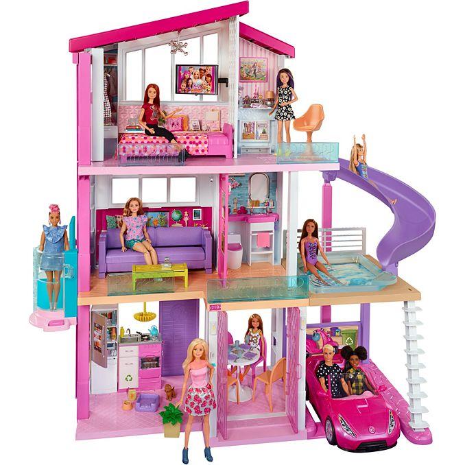 Barbie Dream House Dollhouse W Pool Slide Elevator Fhy73 Barbie Barbie Doll House Barbie Dream Barbie Dream House