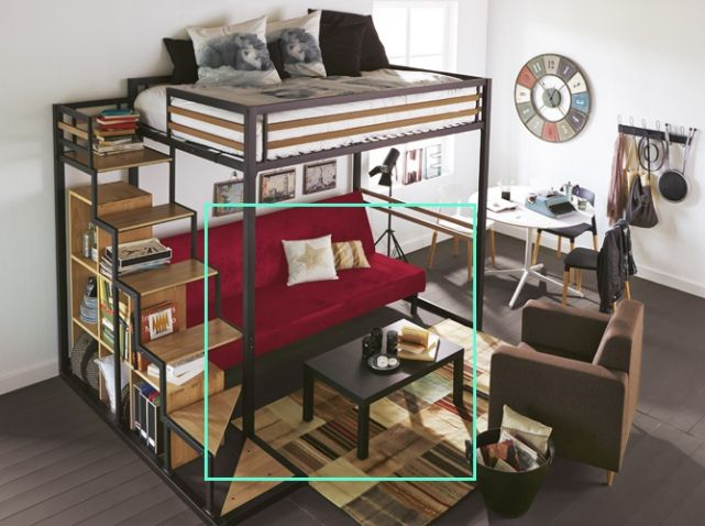 Lit mezzanine noir alinea | Home - Studio | Pinterest | Lits ...